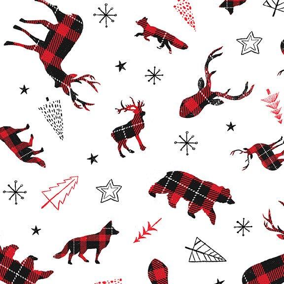 Warm Winter Wishes - Tossed Plaid Animals