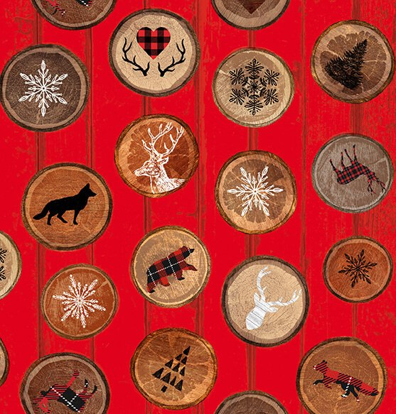 Warm Winter Wishes - Tossed Circles with Rustic Motifs