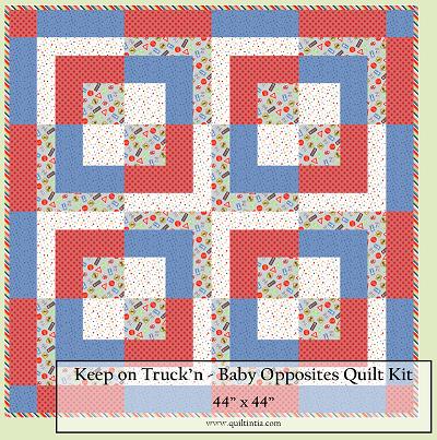 Keep on Truck'n Baby Opposites Quilt Kit
