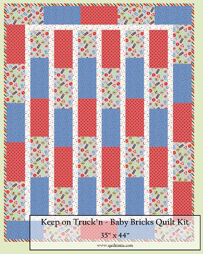 Keep on Truck'n Baby Bricks Quilt Kit