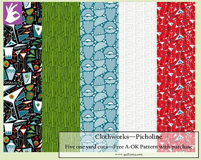Five Yard Bundle - Picholine - FREE A-OK PATTERN