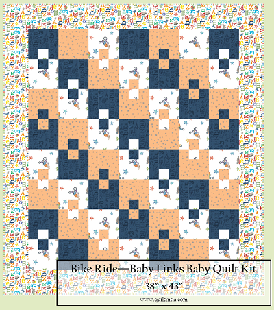 Bike Ride Baby Links Quilt Kit