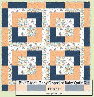 Bike Ride Baby Opposites Quilt Kit