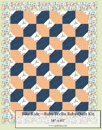 Bike Ride Baby Trellis Quilt Kit