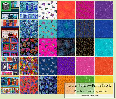 Feline Frolic - 4 Panels and 26 Fat Quarters