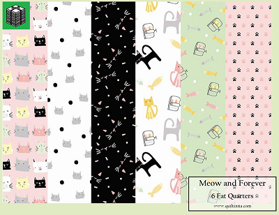 Meow and Forever - 6 Fat Quarters