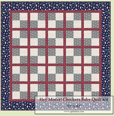 Hey Mister! Baby Checkers Quilt Kit