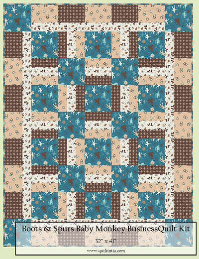 Boots and Spurs Baby Monkey Business Quilt Kit
