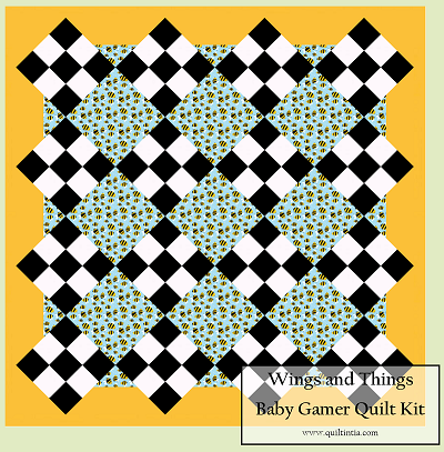 Wings and Things Baby Gamer Quilt Kit