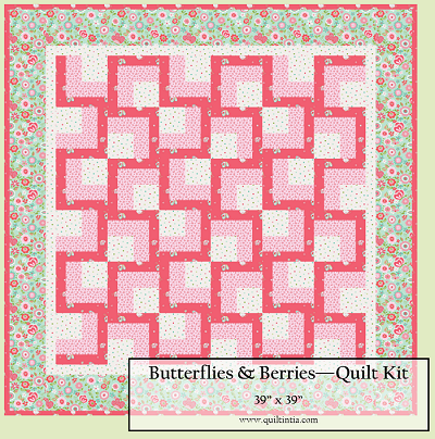Butterflies & Berries Baby Kissing Frogs Quilt Kit