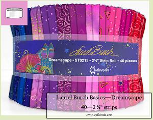 Laurel Burch - Dreamscape - 40 -  2 1/2 strip roll