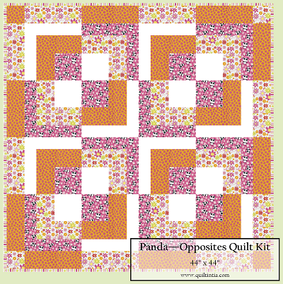 Pandas Baby Opposites Quilt Kit #2