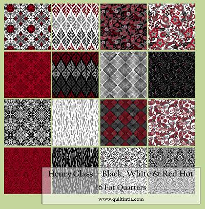 Black, White, & Red Hot - 16 Fat Quarters