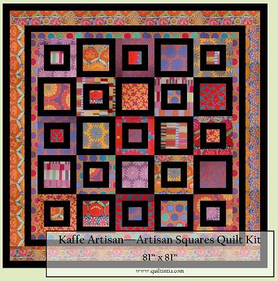 Artisan - Artisan Squares Quilt Kit - Orange Border