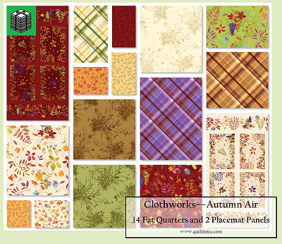 Autumn Air - 2 Panels and 14 Fat Quarters