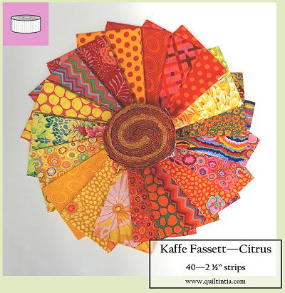 Kaffe Fassett 2 1/2 Strips - CITRUS - 40 Strips