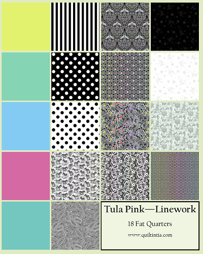 Tula Pink Linework - Fat Quarters - 18 Fabrics