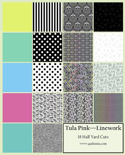 Tula Pink Linework - Half Yard Cuts - 18 Fabrics