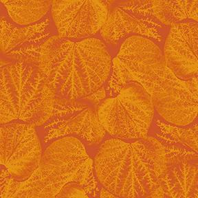Flower Power - Leaves - Dark Orange