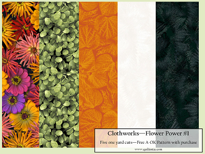 Five Yard Bundle - Flower Power #1 - FREE A-OK PATTERN