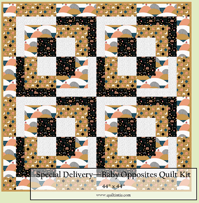 Special Delivery Baby Opposites Quilt Kit