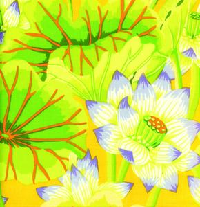 Kaffe Fassett - Classics - Lake Blossoms - Yellow