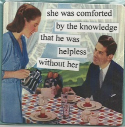 Magnet - She was comforted by the knowledge that he was helpless without her