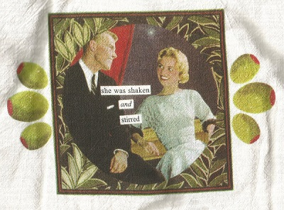 Flour Sack Towel - She was shaken and stirred