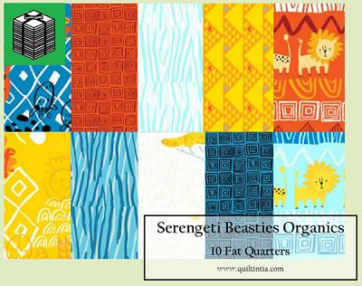 Serengeti Beasties - Organics - 10 Fat Quarters