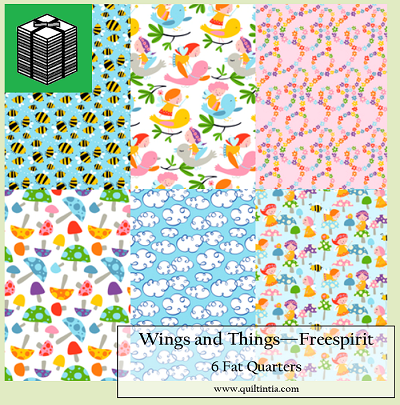 Wings and Things - 6 Fat Quarters