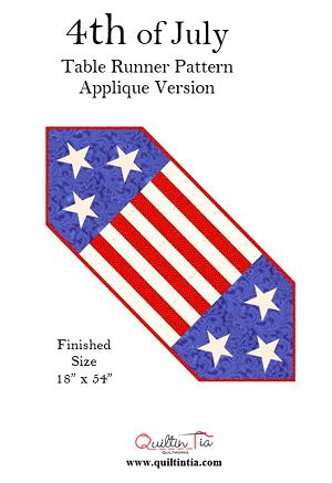4th of July Table Runner - Appliqued Version