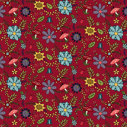 Gnome for the Holidays - Floral - Red