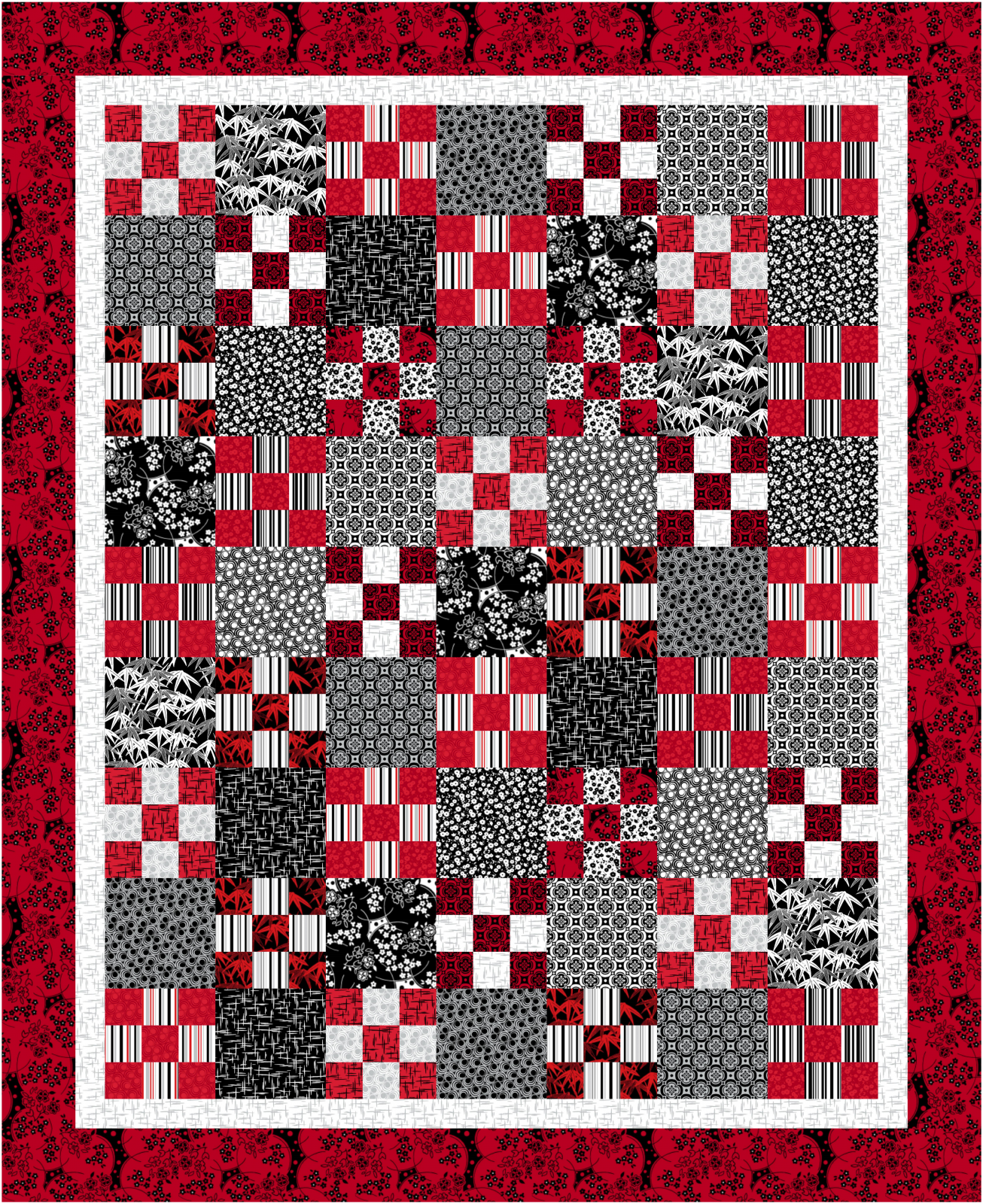 Ruby Night - Alma's Journey Quilt Kit