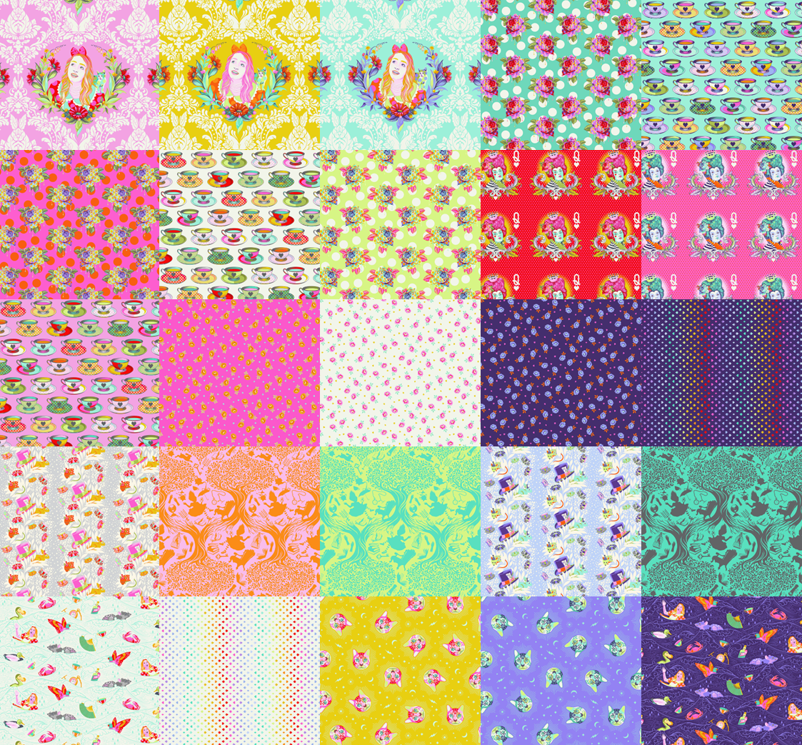 Curiouser and Curiouser - 25 Fat Quarters (full collection)