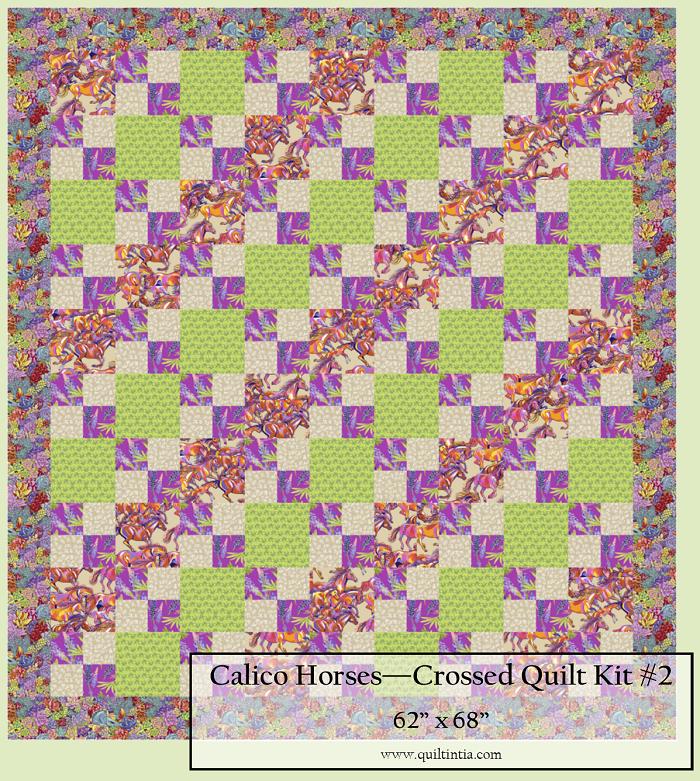 Calico Horses - Crossed Quilt Kit #2
