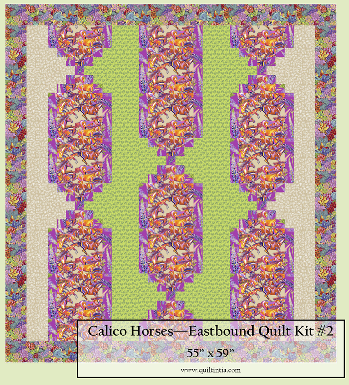 Calico Horses - Eastbound Quilt Kit #2