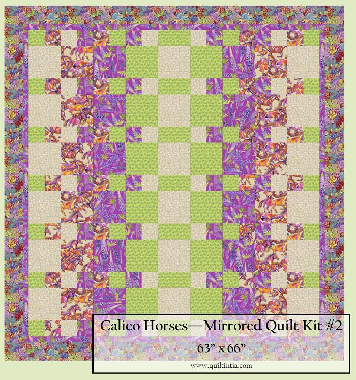 Calico Horses - Mirrored Quilt Kit #2