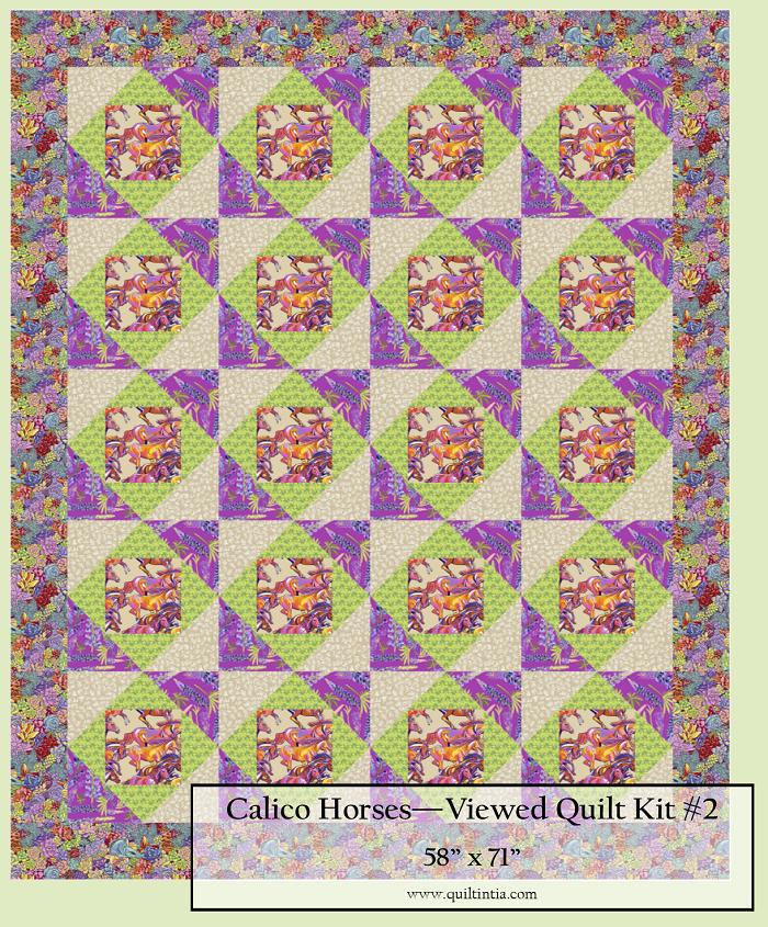 Calico Horses - Featured Quilt Kit #2