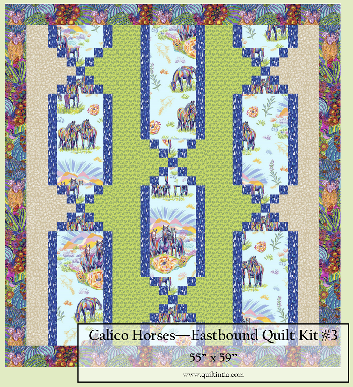 Calico Horses - Eastbound Quilt Kit #3