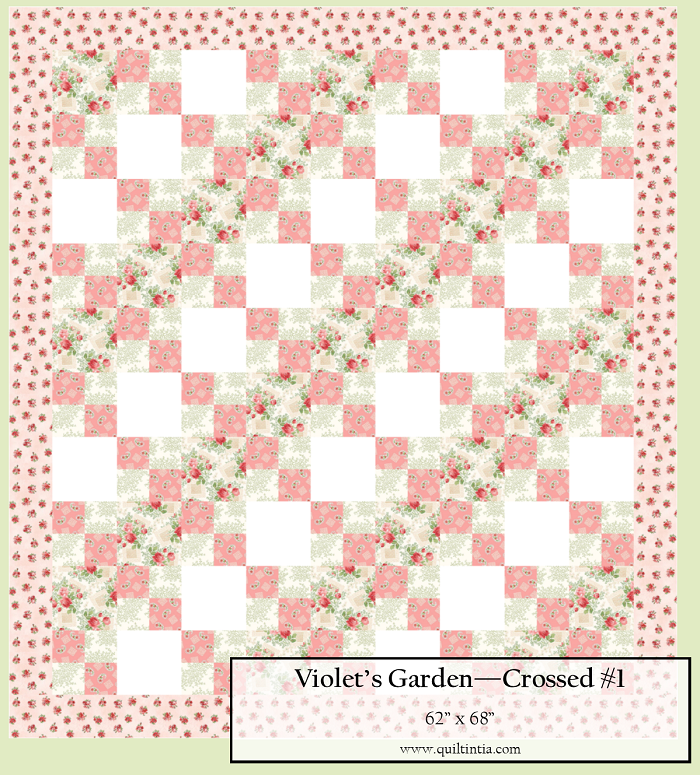 Violet's Garden - Crossed Quilt Kit #1