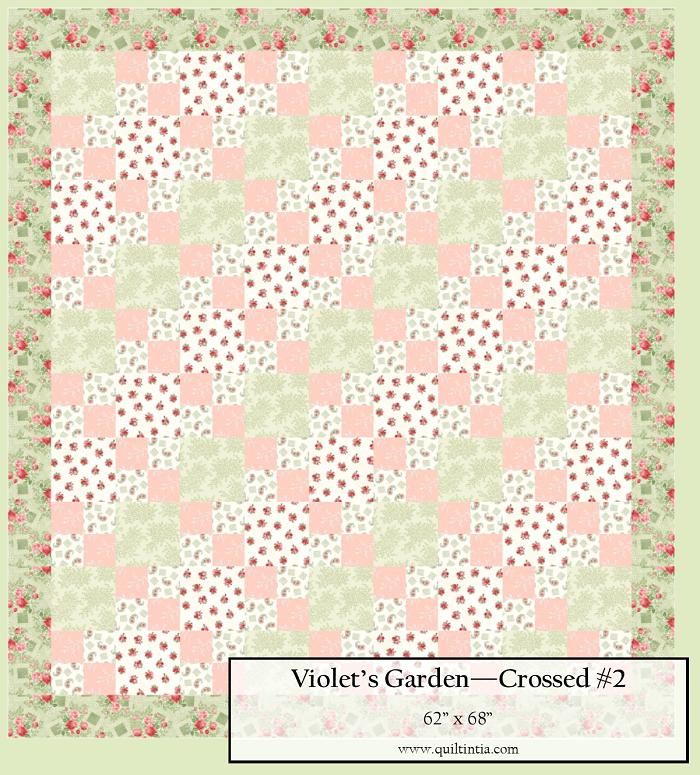Violet's Garden - Crossed Quilt Kit #2
