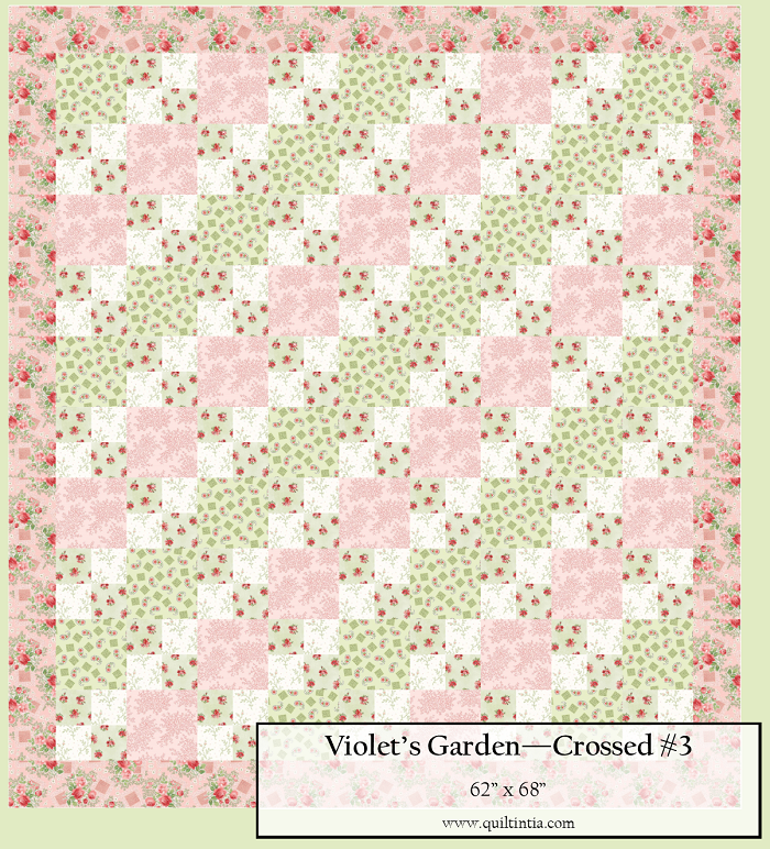 Violet's Garden - Crossed Quilt Kit #3