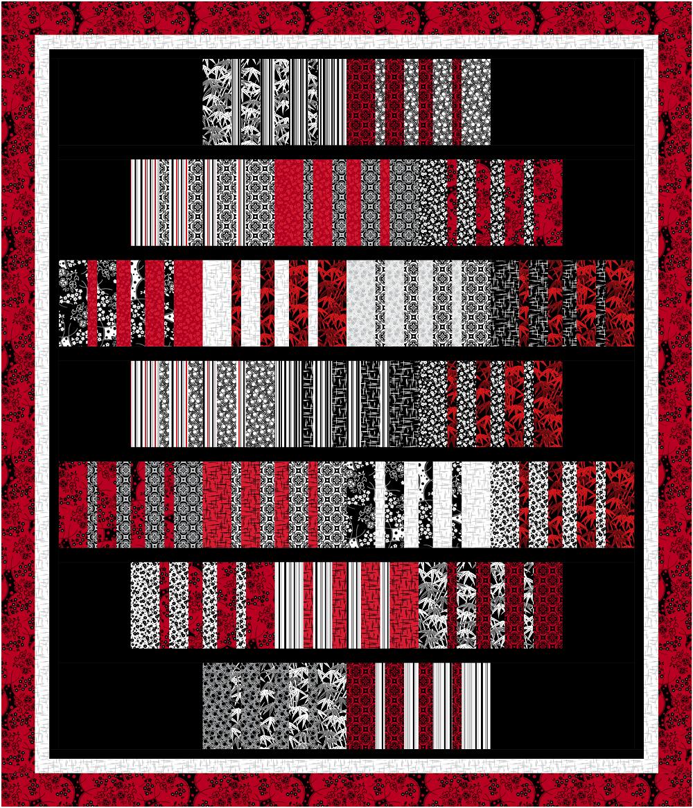 Ruby Night - Flippity Flapjacks Quilt Kit