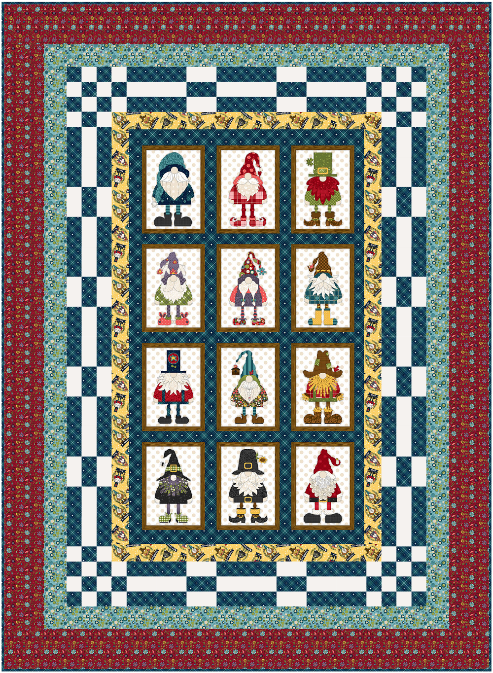 Gnome for the Holidays - Panel Up Quilt Kit