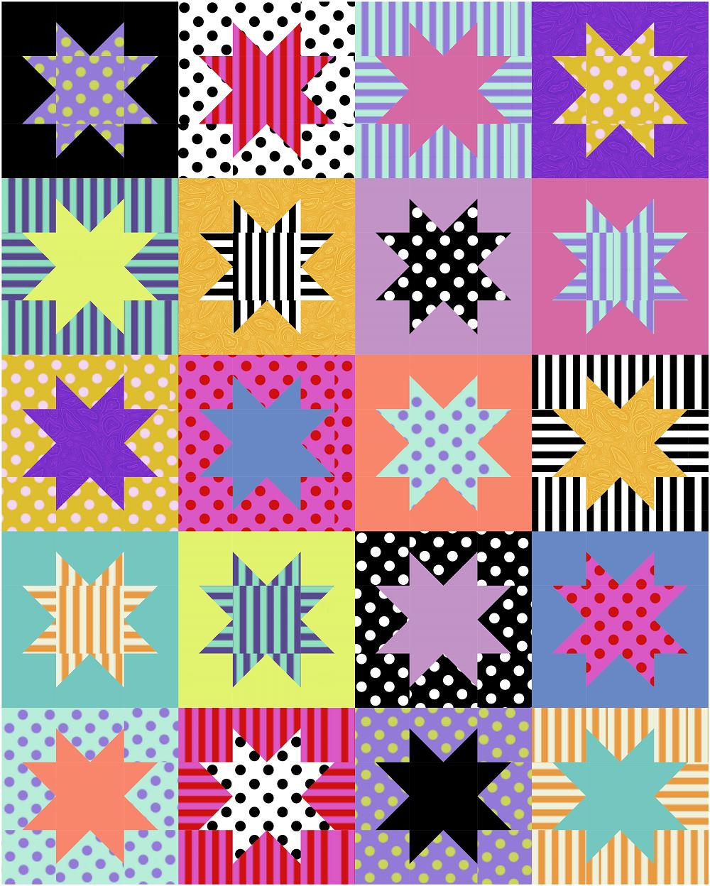 Tula Pink Basics Gracie's Star Quilt Kit