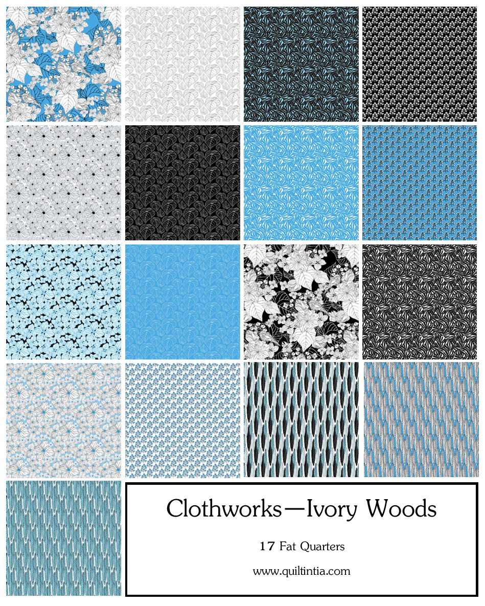 Ivory Woods - 17 Fat Quarters