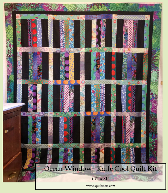 Kaffe Fassett - Ocean Window Quilt Kit - COOL