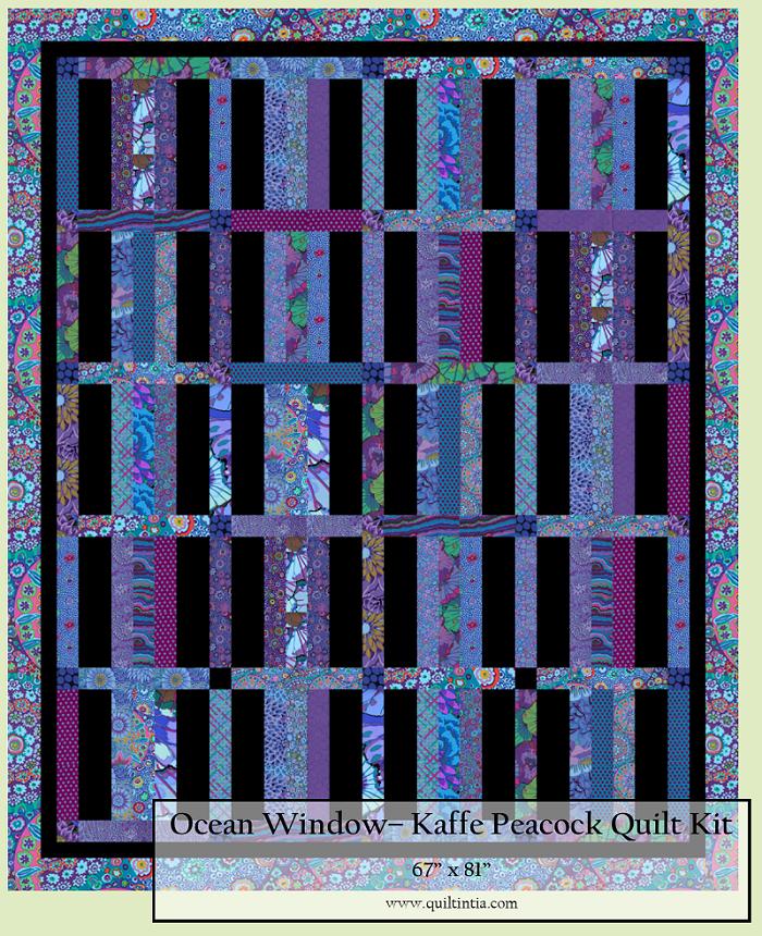 Kaffe Fassett Peacock - Ocean Window Quilt Kit
