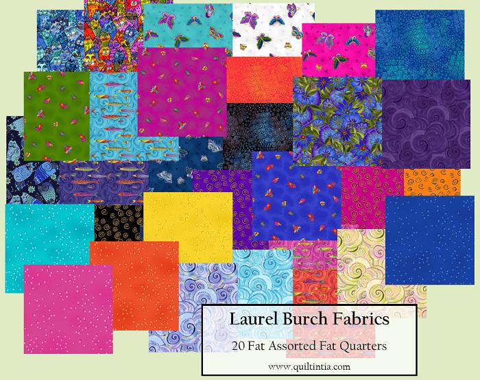 Assorted Laurel Burch - 20 Fat Quarters