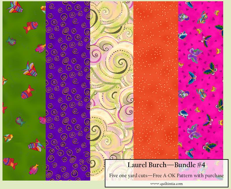 Laurel Burch - Five Yard Bundle #4 - Free A-OK Pattern with Purchase